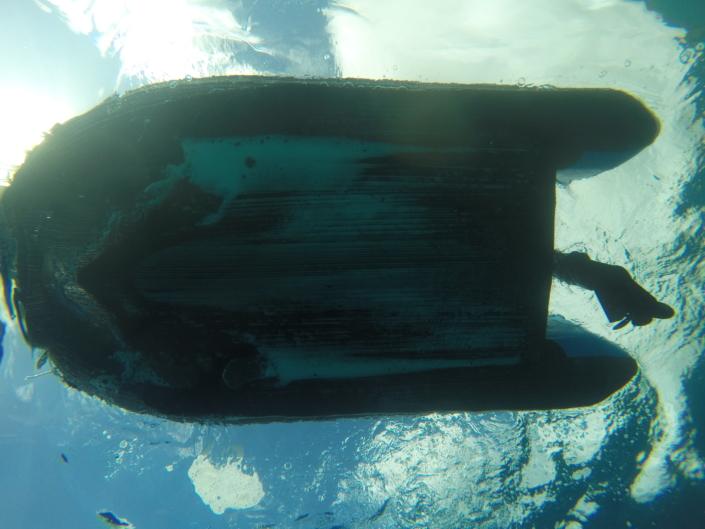 Carène renforcée vue sous l'eau