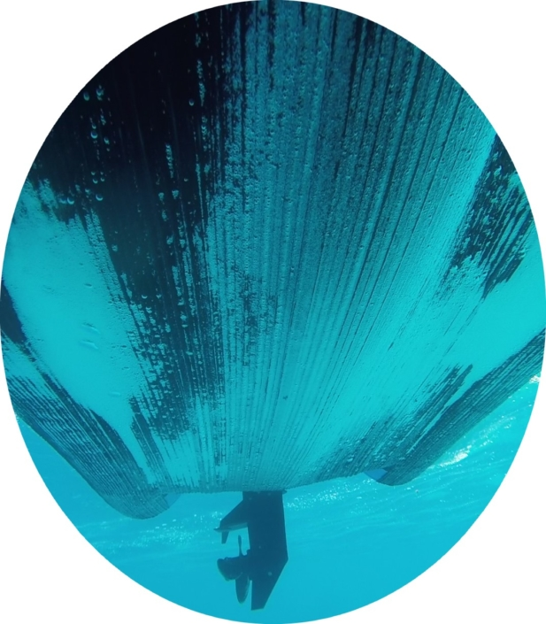 Carène vue sous l'eau